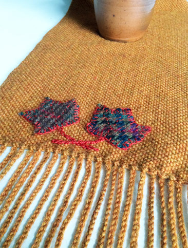 woven-on-rigid-heddle-loom